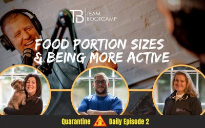 S3 Ep11 – Moderating Food Portion Sizes & Overcoming a Sedentary Lifestyle – Quarantine Daily Podcast